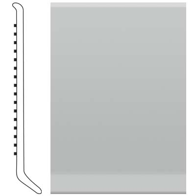 Roppe Pinnacle Rubber Wall Base 5 (Cove Base) Light Gray 195