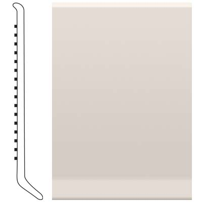 Roppe Pinnacle Rubber Wall Base 5 (Cove Base) Natural 122