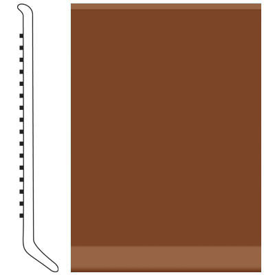 Roppe Pinnacle Rubber Wall Base 5 (Cove Base) Nutmeg 623