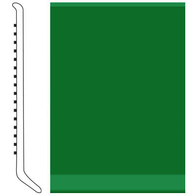 Roppe Pinnacle Rubber Wall Base 5 (Cove Base) Shamrock 628