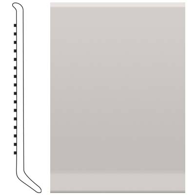 Roppe Pinnacle Rubber Wall Base 5 (Cove Base) Smoke 174