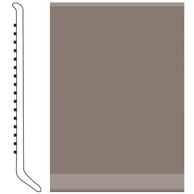 Roppe Pinnacle Rubber Wall Base 5 (Cove Base) Taupe 124