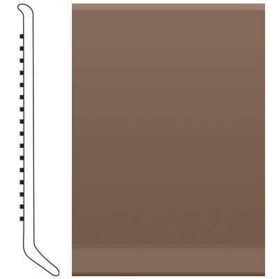 Roppe Pinnacle Rubber Wall Base 5 (Cove Base) Toffee 182