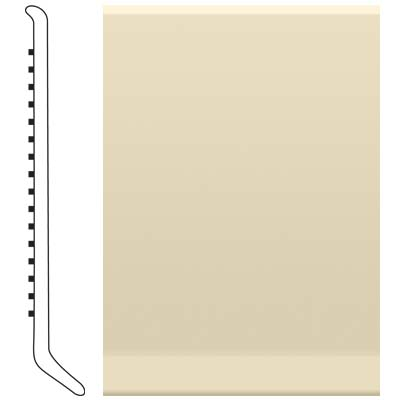 Roppe Pinnacle Rubber Wall Base 6 (Cove Base) Almond 184