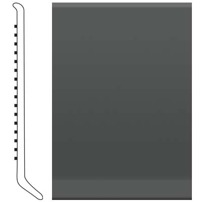 Roppe Pinnacle Rubber Wall Base 6 (Cove Base) Black Brown 193