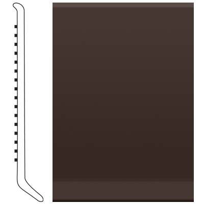 Roppe Pinnacle Rubber Wall Base 6 (Cove Base) Brown 110