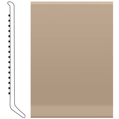 Roppe Pinnacle Rubber Wall Base 6 (Cove Base) Camel 191