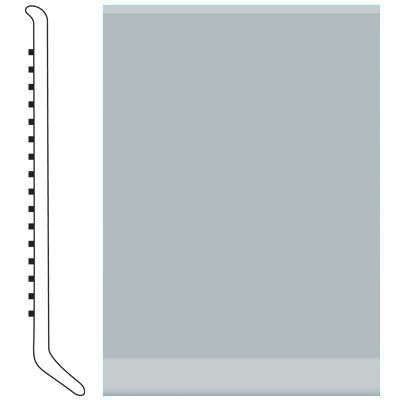 Roppe Pinnacle Rubber Wall Base 6 (Cove Base) Platinum 616