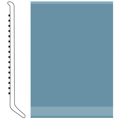 Roppe Pinnacle Rubber Wall Base 6 (Cove Base) Salem Blue 154