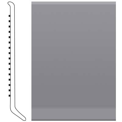 Roppe Pinnacle Rubber Wall Base 6 (Cove Base) Steel Gray 148
