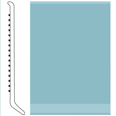 Roppe Pinnacle Rubber Wall Base 6 (Cove Base) Turquoise 146