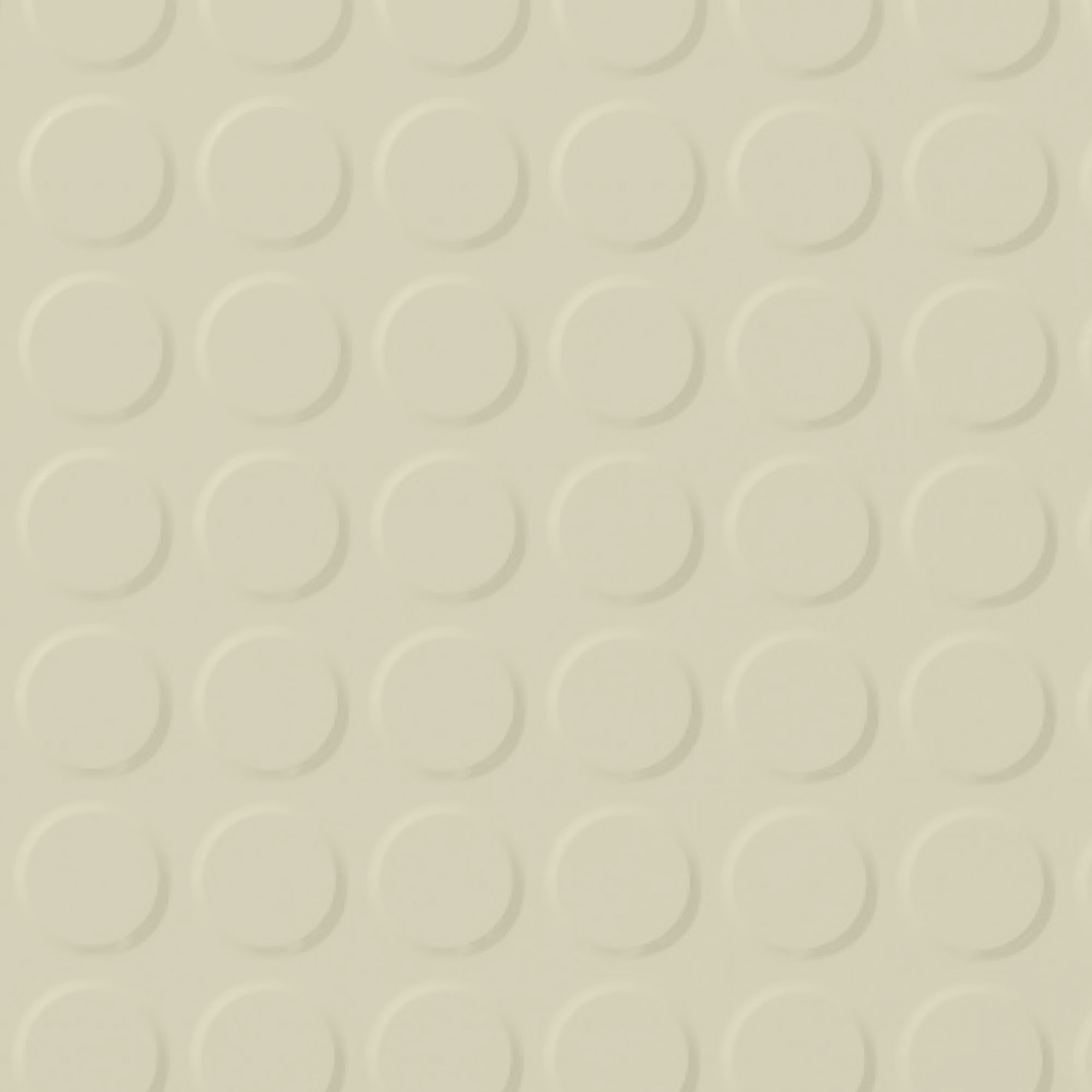 Roppe Rubber Tile 900 - Vantage Raised Circular Design (996) Bisque 131