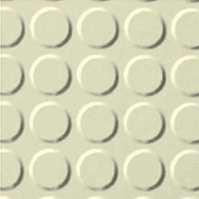Roppe Rubber Tile 900 - Vantage Raised Circular Design (996) Cream 615
