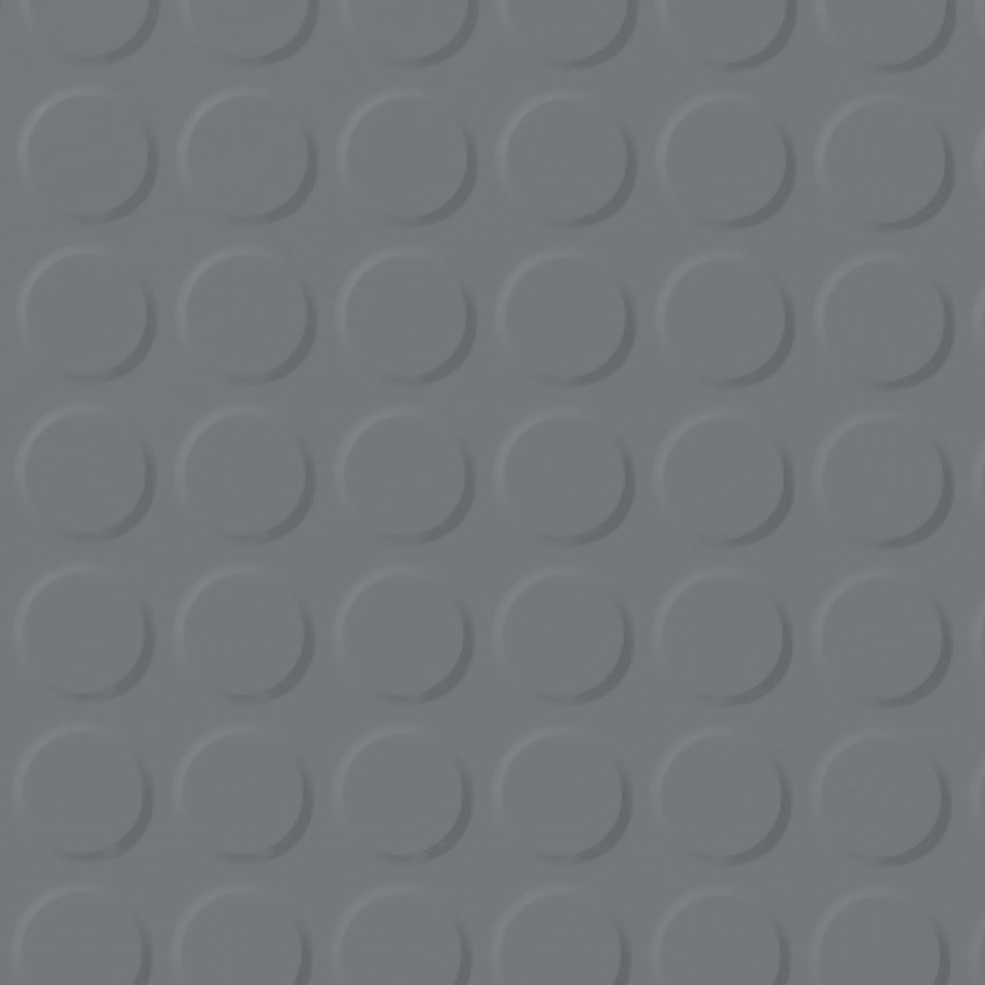 Roppe Rubber Tile 900 - Vantage Raised Circular Design (996) Dark Gray 150
