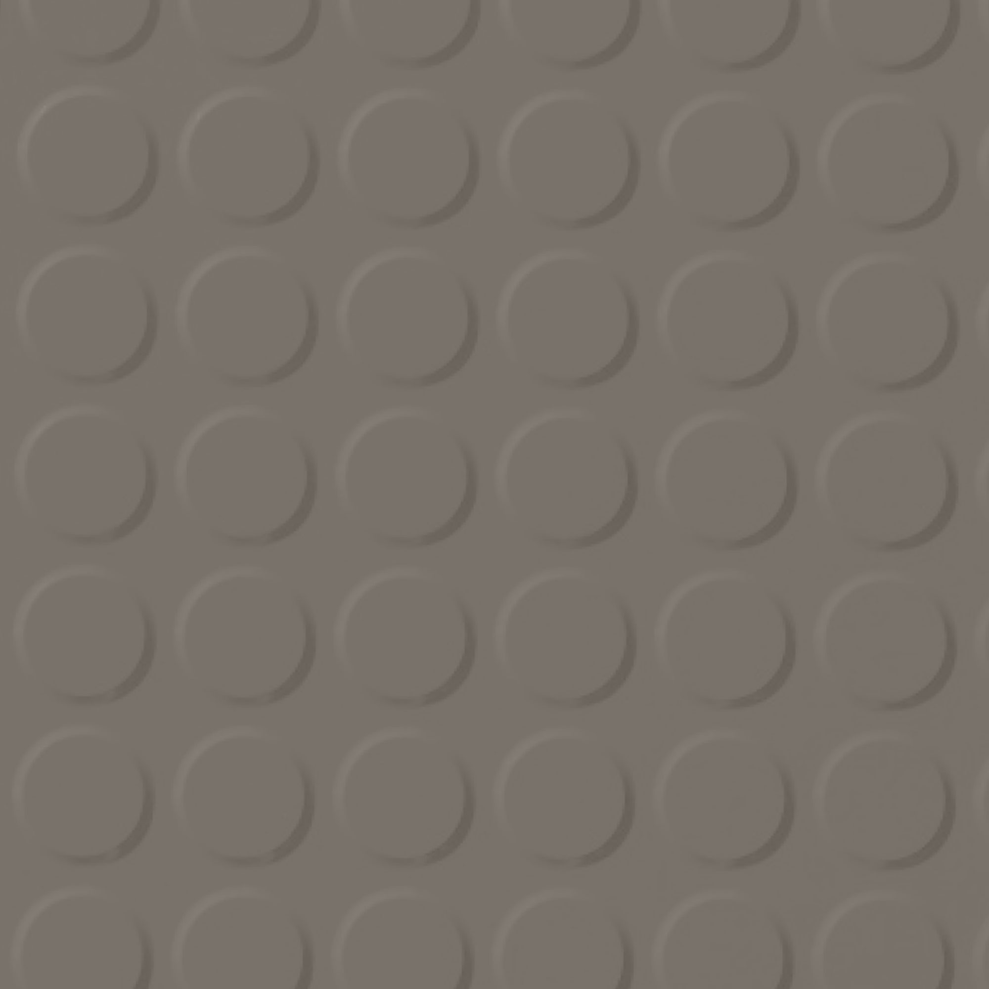 Roppe Rubber Tile 900 - Vantage Raised Circular Design (996) Lunar Dust 114
