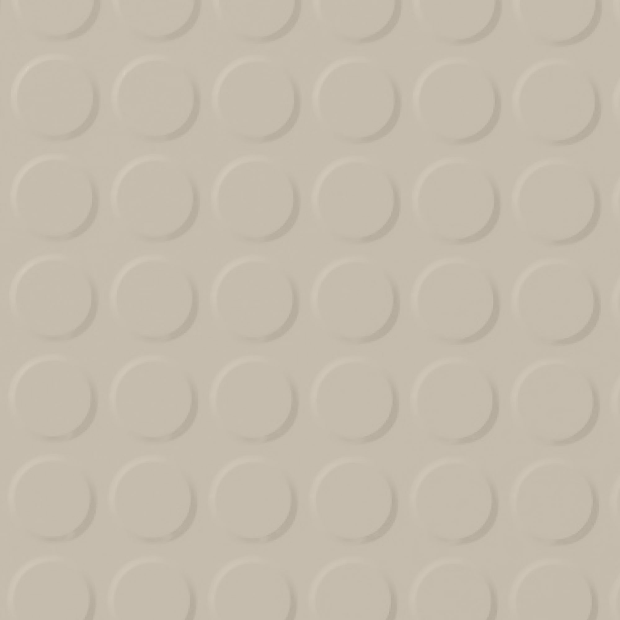 Roppe Rubber Tile 900 - Vantage Raised Circular Design (996) Natural 122
