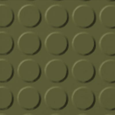 Roppe Rubber Tile 900 - Vantage Raised Circular Design (996) Olive 634