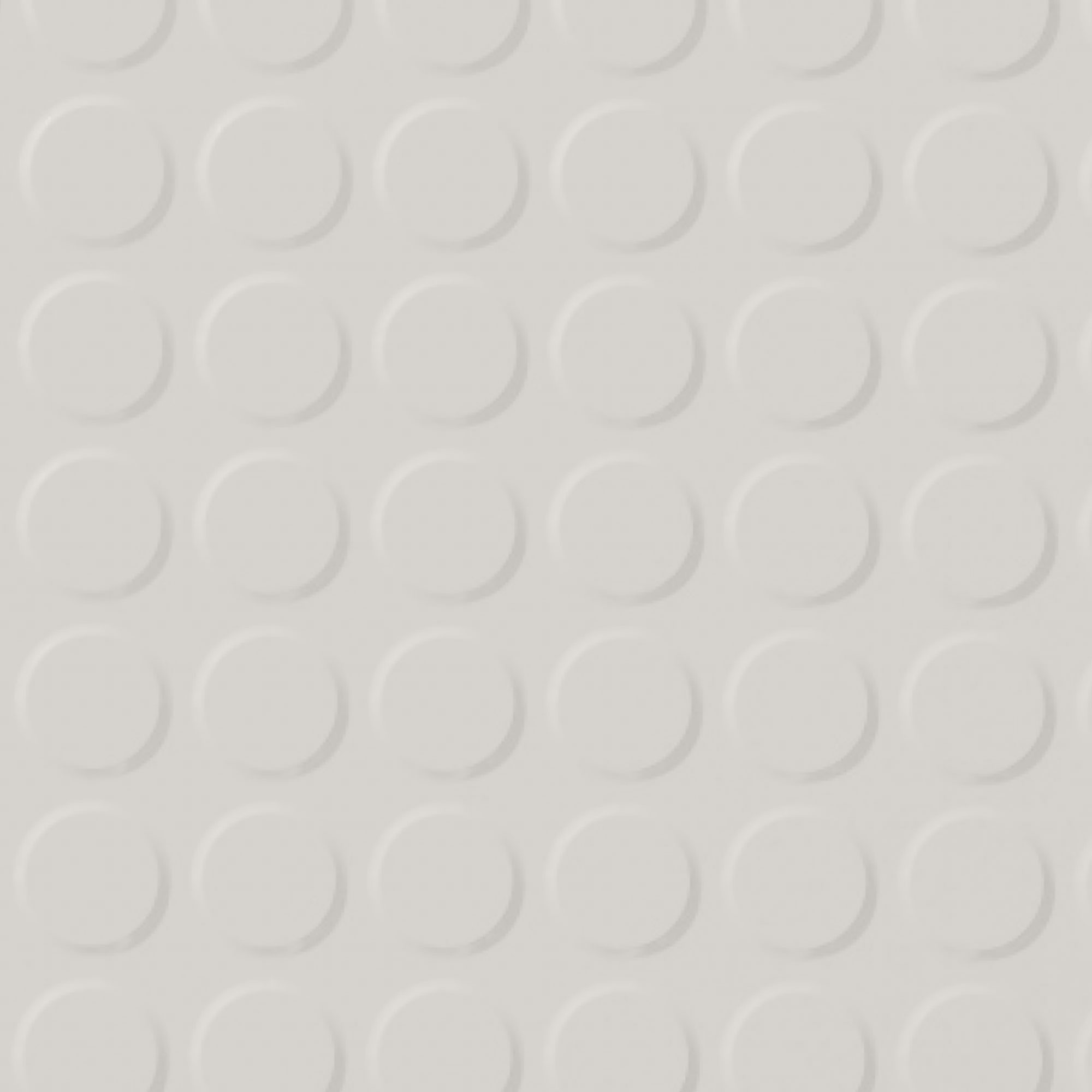 Roppe Rubber Tile 900 - Vantage Raised Circular Design (996) Snow 161
