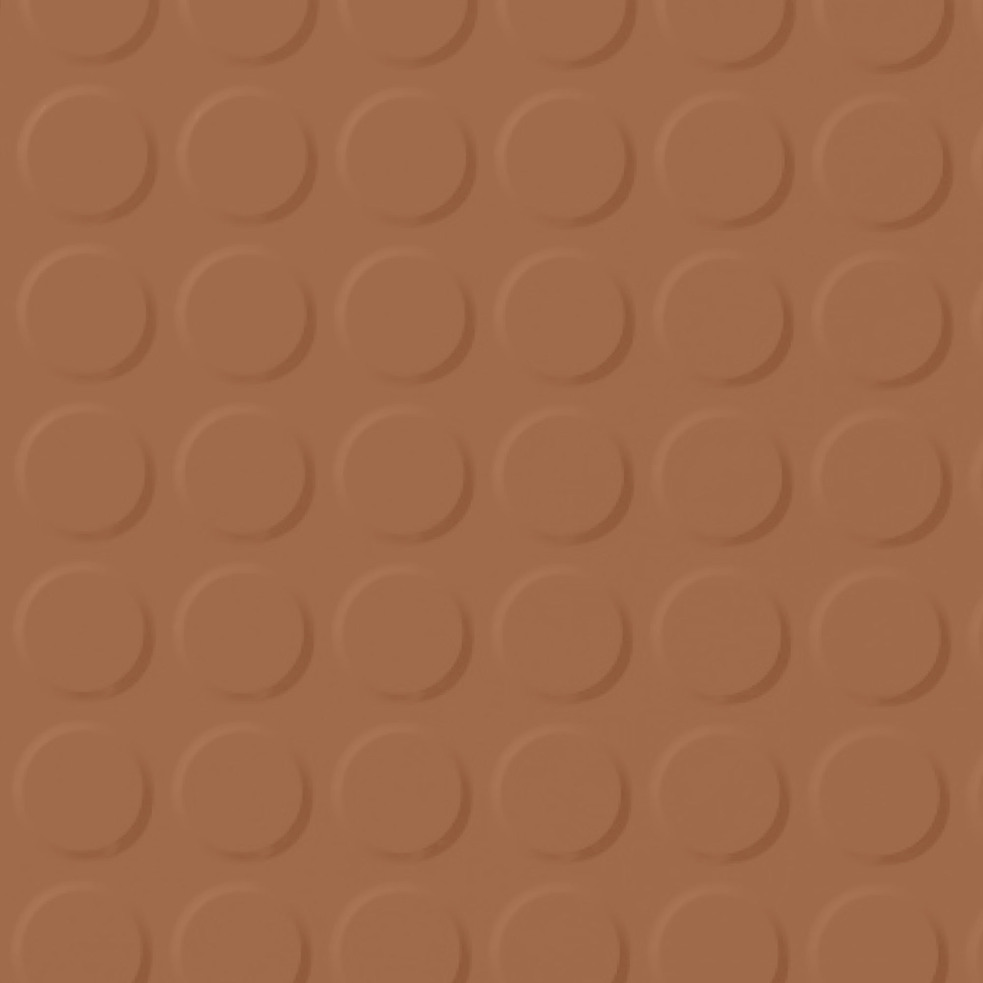 Roppe Rubber Tile 900 - Vantage Raised Circular Design (996) Terracotta 617