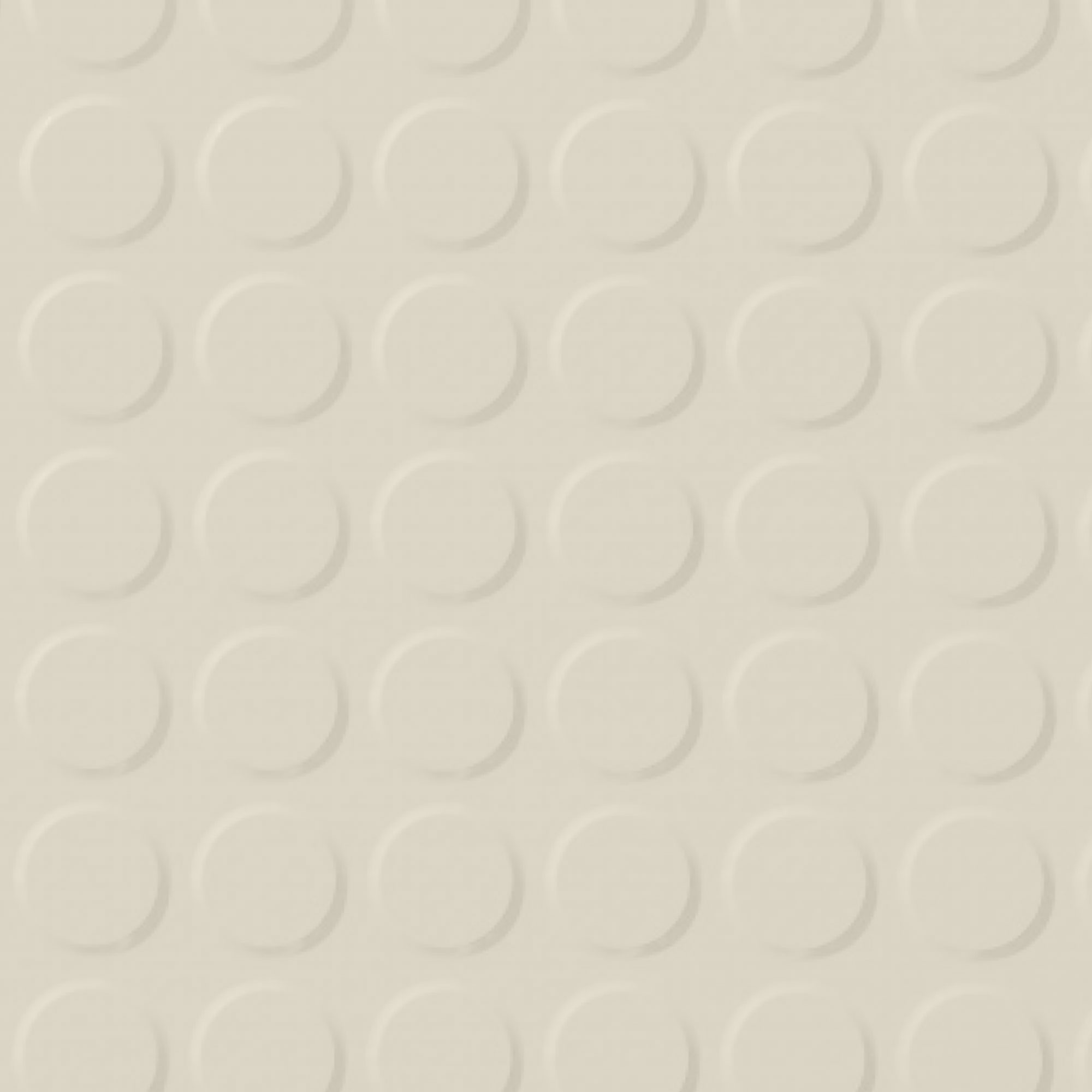 Roppe Rubber Tile 900 - Vantage Raised Circular Design (996) White 170