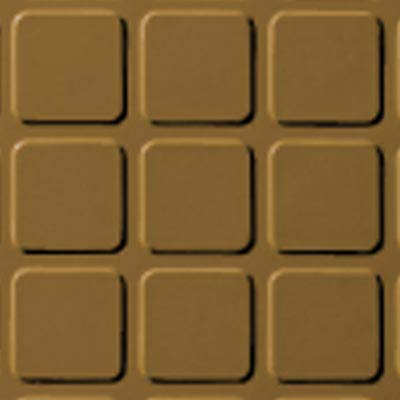 Roppe Rubber Design Treads - Raised Square Design Brass 622