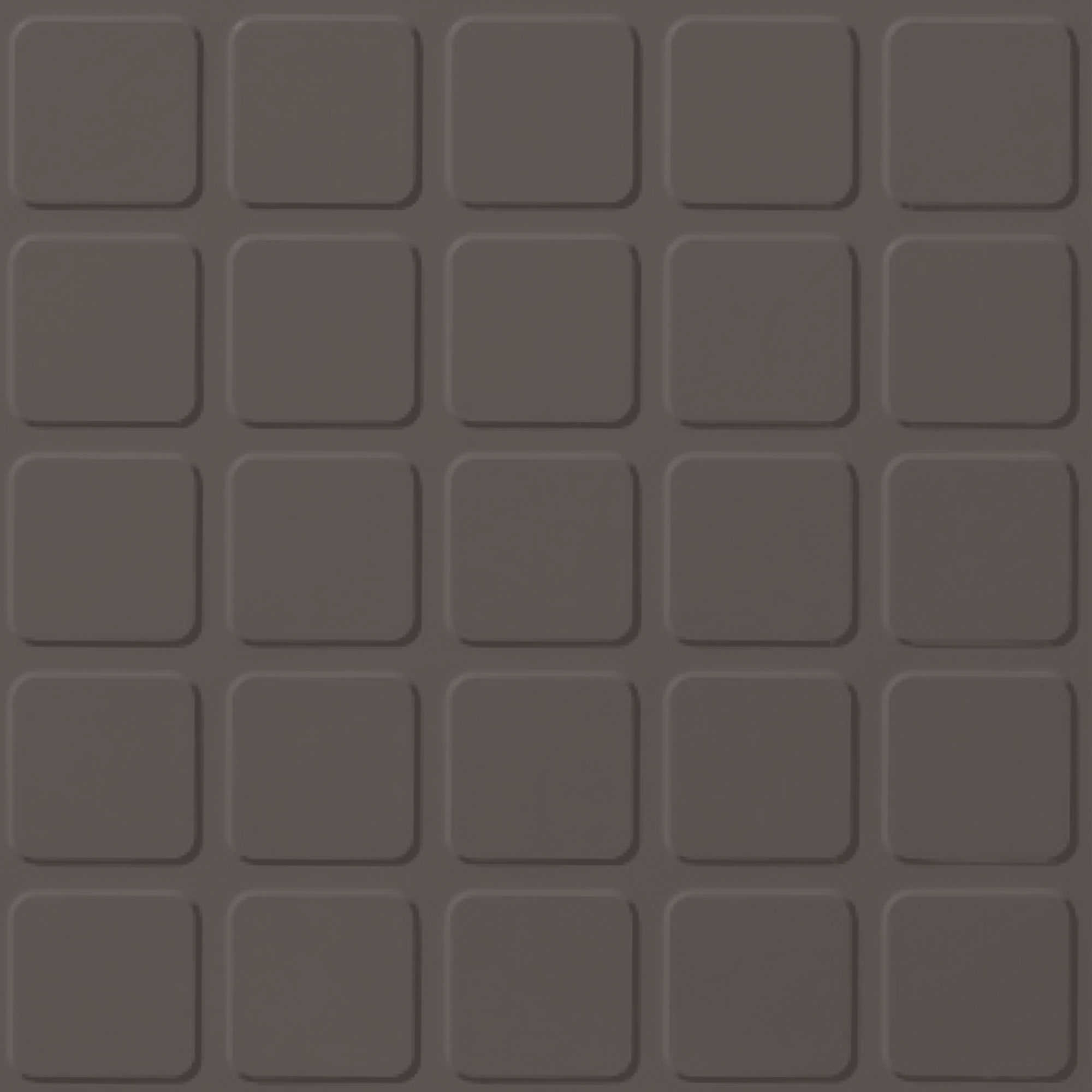Roppe Rubber Design Treads - Raised Square Design Burnt Umber 194