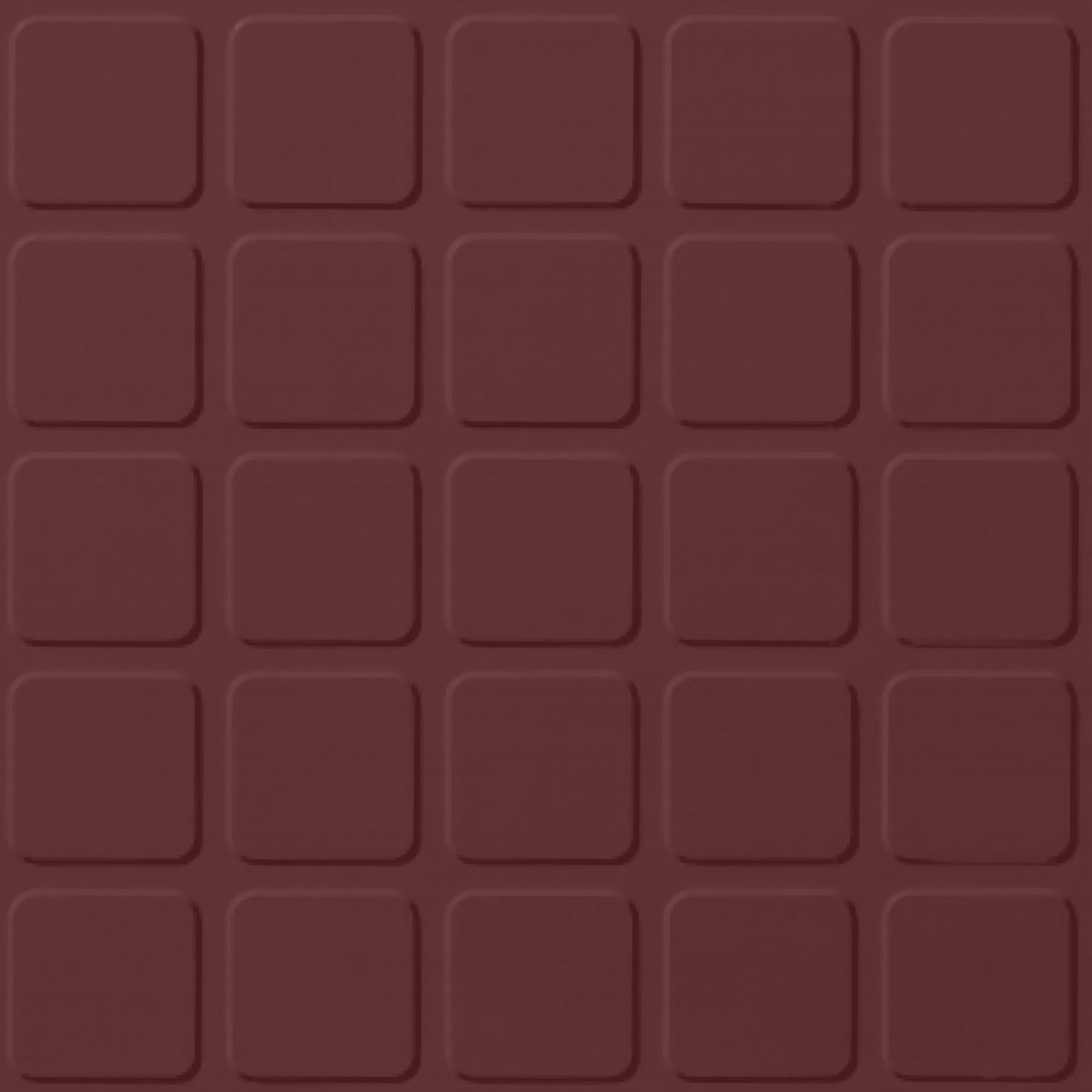 Roppe Rubber Design Treads - Raised Square Design Cinnabar 137