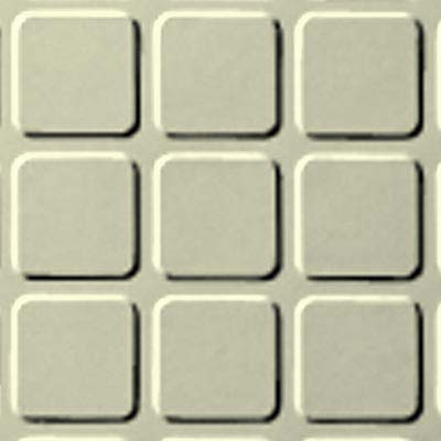 Roppe Rubber Design Treads - Raised Square Design Cream 615