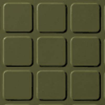Roppe Rubber Design Treads - Raised Square Design Olive 634