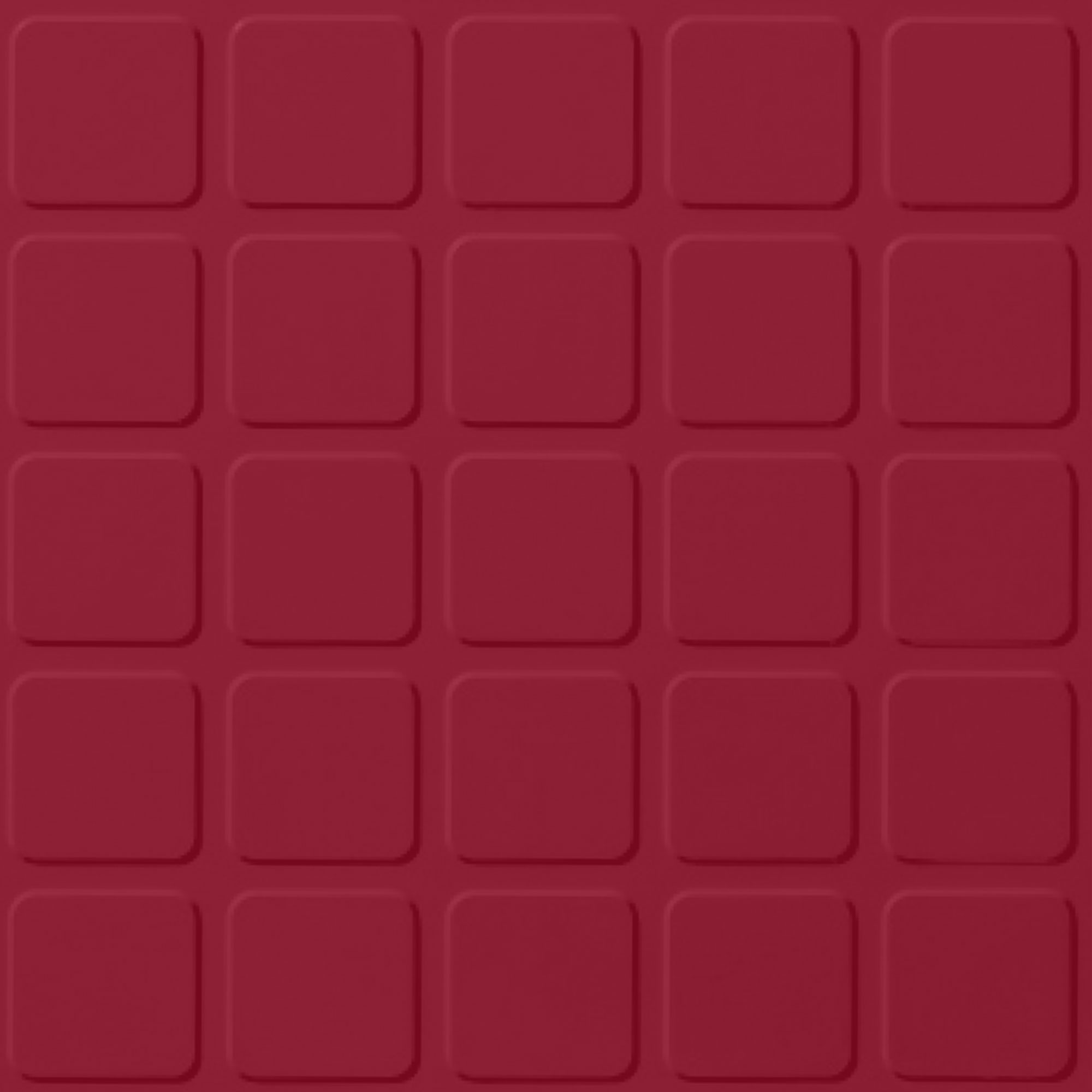 Roppe Rubber Design Treads - Raised Square Design Red 186