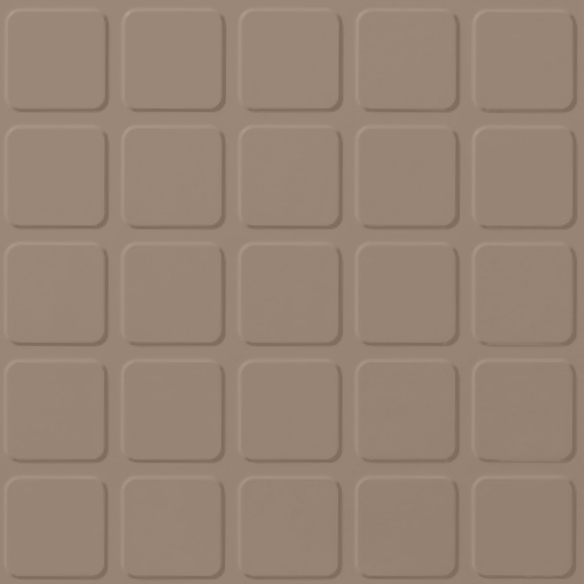 Roppe Rubber Design Treads - Raised Square Design Sandstone 171