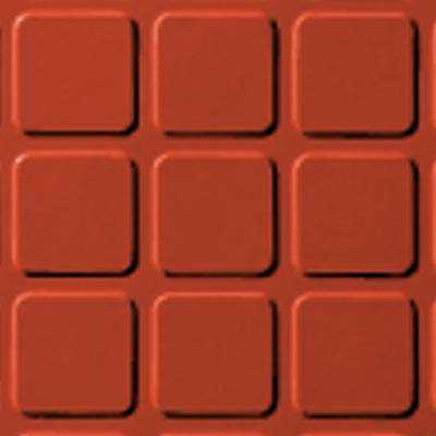 Roppe Rubber Design Treads - Raised Square Design Tangerine 626