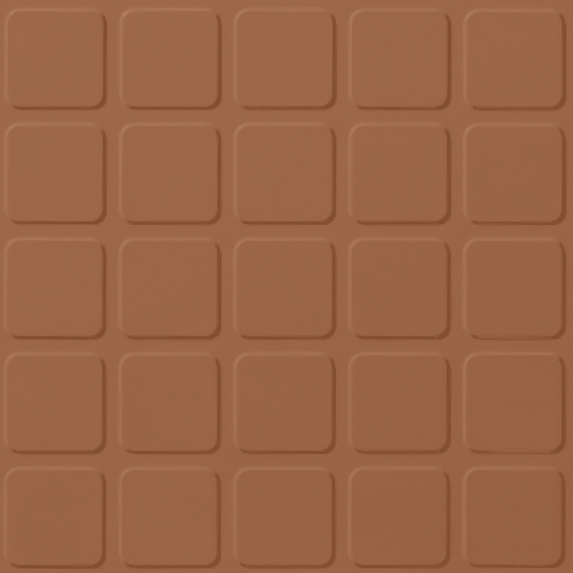 Roppe Rubber Design Treads - Raised Square Design Terracotta 617
