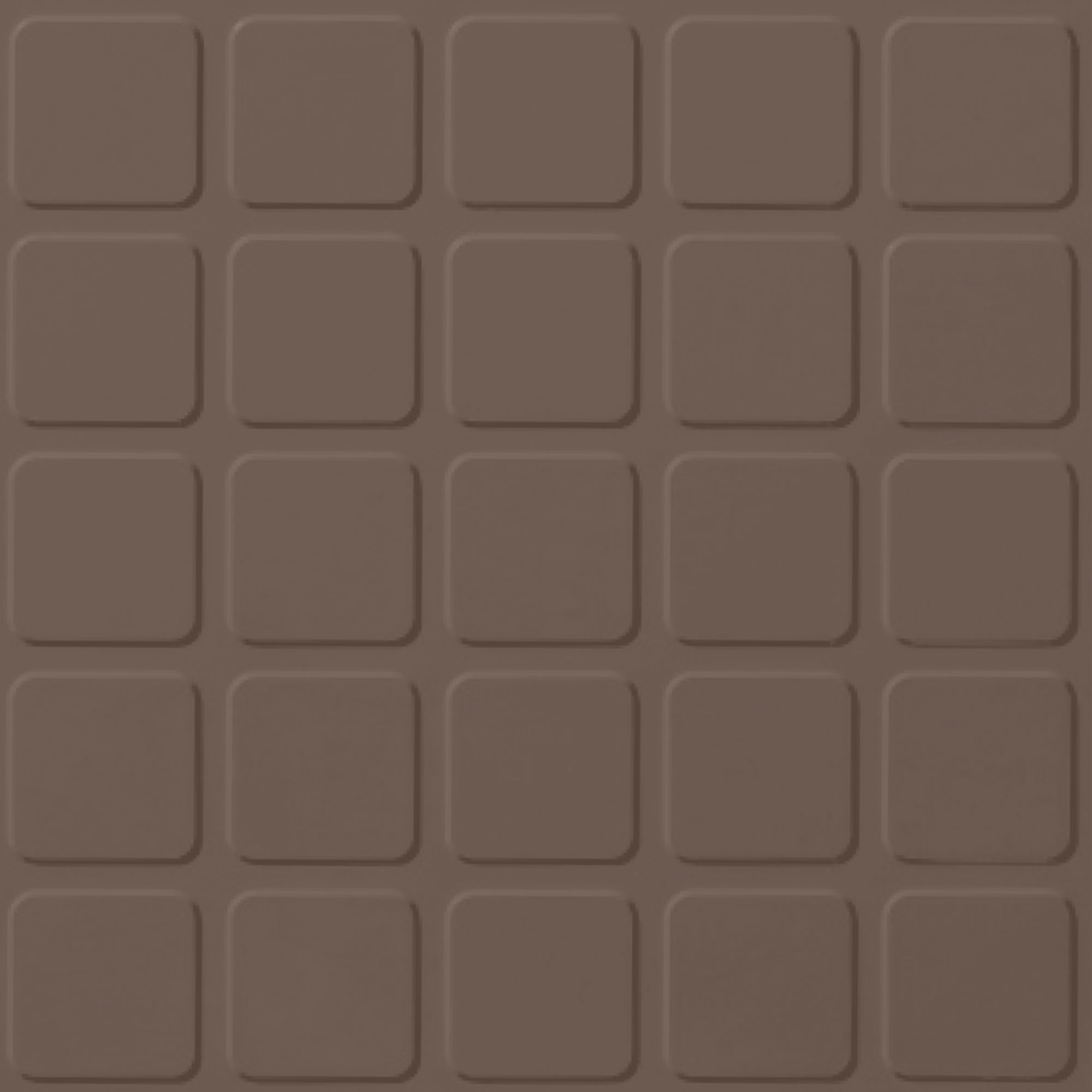 Roppe Rubber Design Treads - Raised Square Design Toffee 182