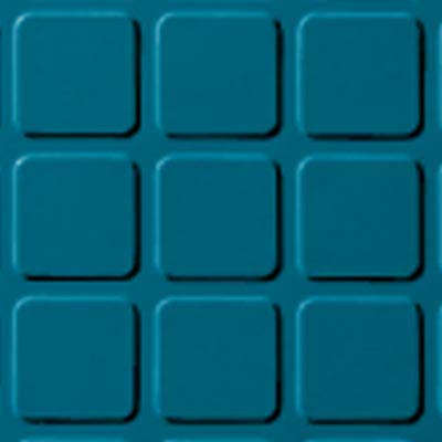 Roppe Rubber Design Treads - Raised Square Design Tropical Blue 606