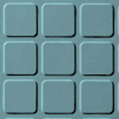 Roppe Rubber Design Treads - Raised Square Design Turquoise 146