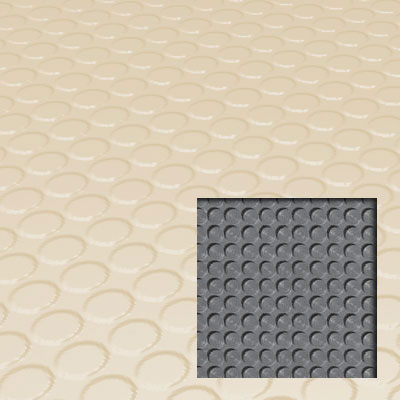 Roppe Rubber Tile 900 - Lug Back Vantage Design (LB996) Almond LB996-P184