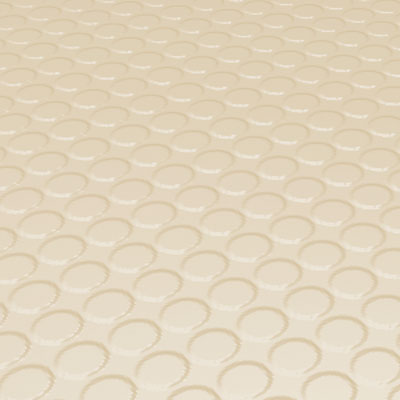 Roppe Rubber Design Treads - Vantage Raised Circular Design Almond 98-SQ-P184