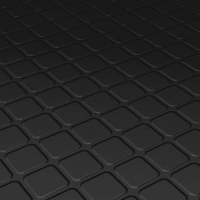 Roppe Rubber Tile 900 - Raised Square Design (994) Black 994-P100