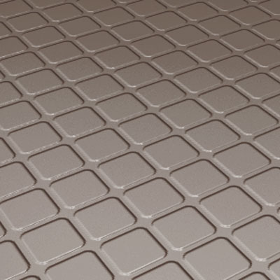 Roppe Rubber Tile 800 - Raised Square Design (894) Taupe 894-P124