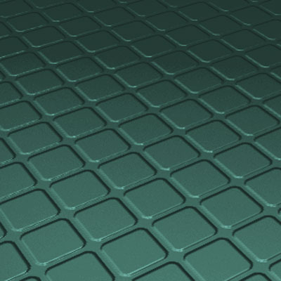 Roppe Rubber Tile 900 - Raised Square Design (994) Forest Green 994-P160