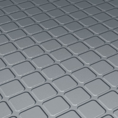 Roppe Rubber Design Treads - Raised Square Design Dark Gray 94-SQ-P150