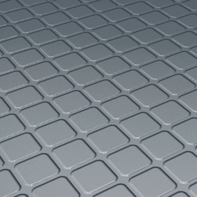 Roppe Rubber Design Treads - Raised Square Design Steel Blue 94-SQ-P177