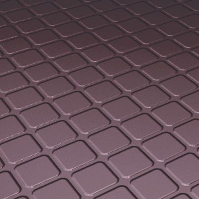 Roppe Rubber Tile 900 - Raised Square Design (994) Burgundy 994-P185