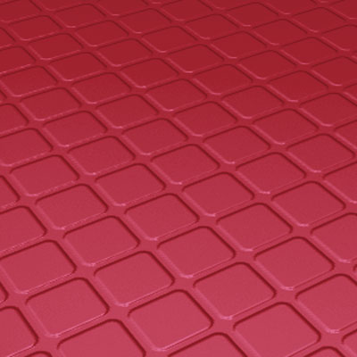 Roppe Rubber Design Treads - Raised Square Design Red 94-SQ-P186