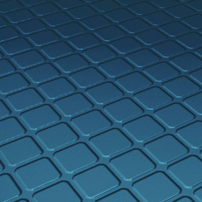 Roppe Rubber Tile 800 - Raised Square Design (894) Blue 894-P187