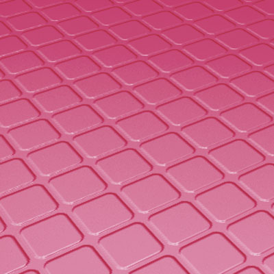 Roppe Rubber Tile 900 - Raised Square Design (994) Azalea 994-P613