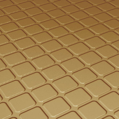 Roppe Rubber Tile 800 - Raised Square Design (894) Brass 894-P622