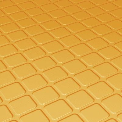 Roppe Rubber Tile 800 - Raised Square Design (894) Golden 894-P629