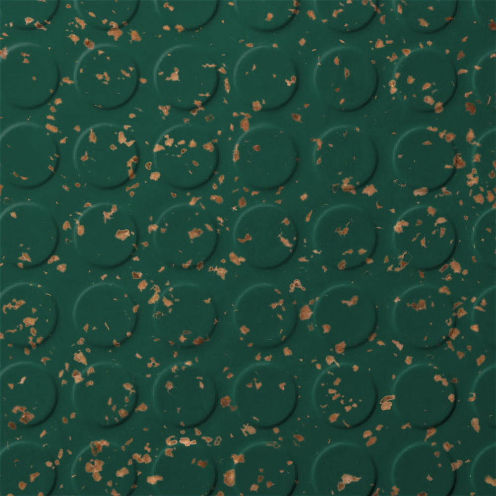 Roppe SafeTCork Raised Design - Low Profile Circular Forest Green